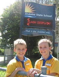 New LED sign for Jindalee State School